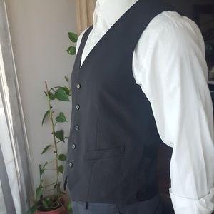 Pinstripe vest men's black NWT express sz M